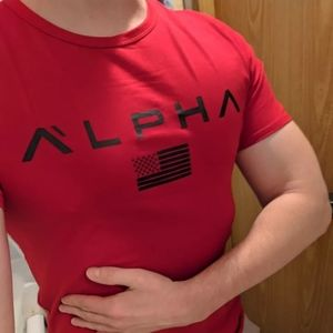RED mens Alpha Athletic Gym t-